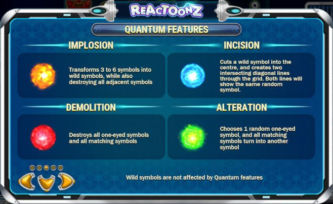 Reactoonz Quantum Features Description