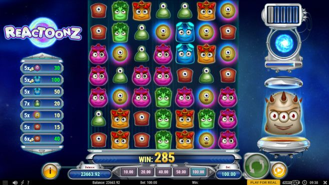 Reactoonz Bitcoin Slot
